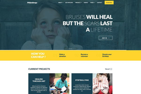 WordPress Non-Profit Themes - Philanthropy - Nonprofit WP Theme