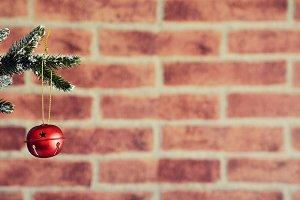 Red christmas ball.