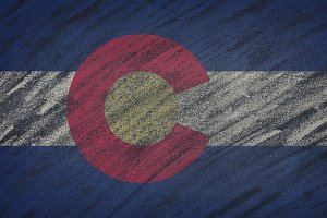 Colorado state flag.