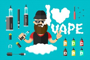 Vape flat illustration