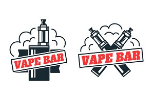 Vape bar logo design