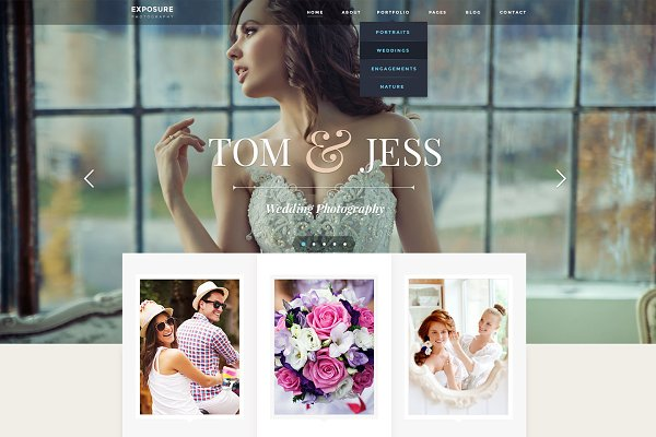 WordPress Photography Themes - Exposure - Photography WP Theme