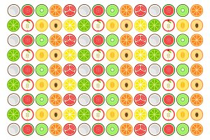 Round fruit pattern