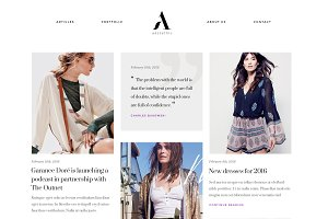 Aesthetic - Fashion Blog WP Theme
