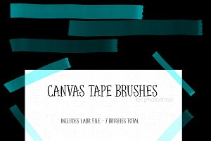 Canvas Tape Brushes for Photoshop
