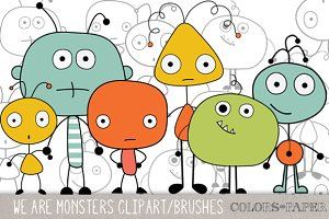 We Are Monsters Clipart, Brushes