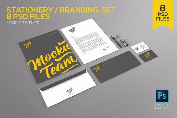 Download Stationery / Branding Set Mock-up