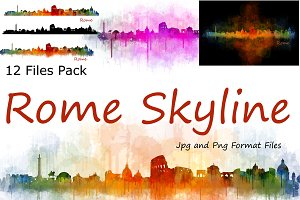 12 x Files Pack Rome Italy Skylines