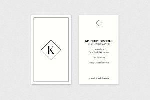 K Monogram Business Card Template