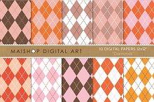 Digital Papers-Diamonds