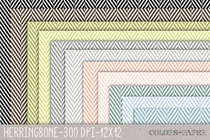 Classis Herringbone Digital Papers