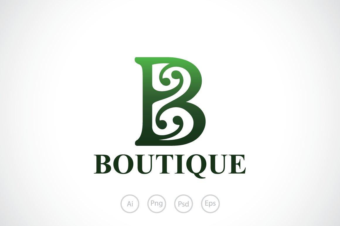 Boutique B Alphabet Logo Template ~ Logo Templates ~ Creative Market