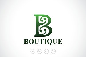 Boutique B Alphabet Logo Template