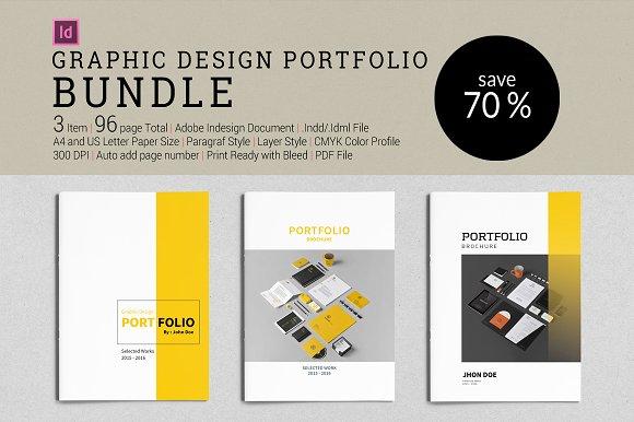 bundle graphic design portfolio brochure templates creative market. Black Bedroom Furniture Sets. Home Design Ideas