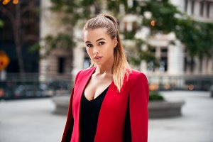 sexy beautiful businesswoman