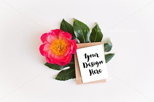 Greeting Card Mockup Flowers