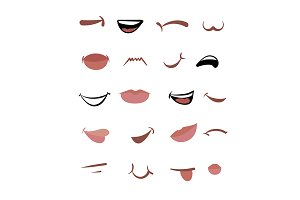 A variety of cartoon mouth.