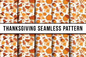 5 Thanksgiving Seamless Pattern