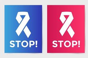Stop cancer ribbon vector