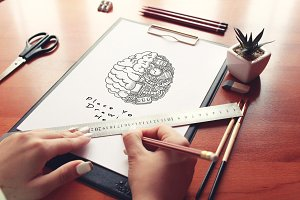 Hand Drawn Sketch Mock-up 12