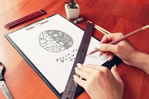 Hand Drawn Sketch Mock-up 13