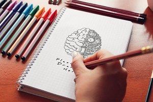 Hand Drawn Sketch Mock-up 18