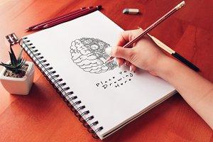 Hand Drawn Sketch Mock-up 27
