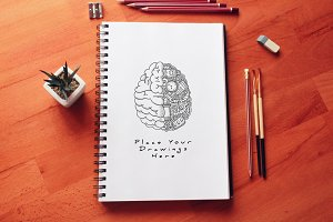 Hand Drawn Sketch Mock-up 28