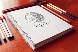 Hand Drawn Sketch Mock-up 31
