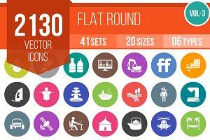 2130 Flat Round Icons (V3)