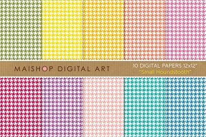 Digital Papers - Small Houndstooth