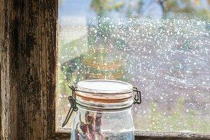 Pantry in the windowsill