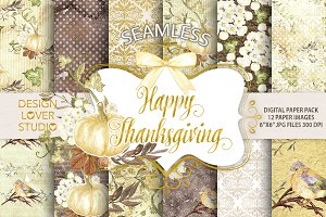 Happy Thanksgiving 2 digital papers
