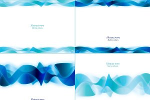 Abstract wave. Set of 8 backgrounds
