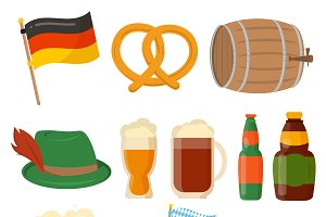 Oktoberfest party elements vector
