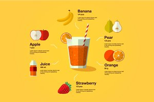 Healthy smoothie infographic
