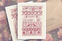 St. Valentine's day greeting card