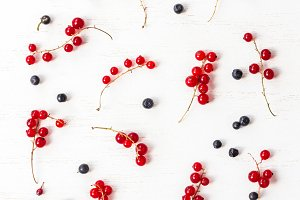 red currant and blueberry