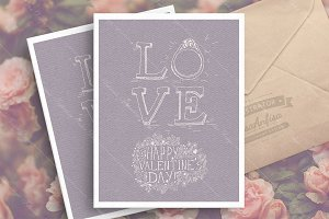 St. Valentine's day greeting card