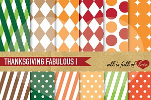 Thanksgiving Background Pattern