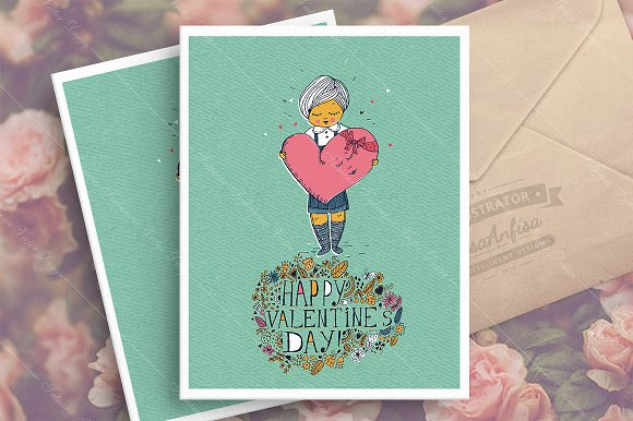 St. Valentine's day greeting card - Illustrations