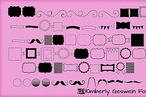 KG Flavor and Frames (One) Font
