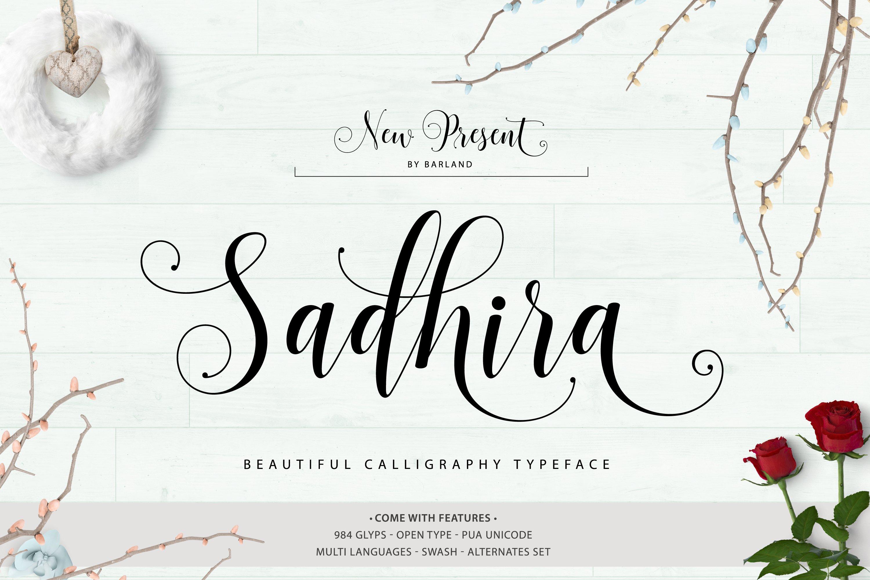 Sadhira script 30% off ~ script fonts ~ creative market