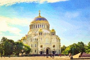 St. Nicholas naval Cathedral in Kronstadt