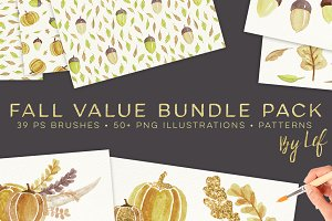 Fall Watercolor Graphics Bundle