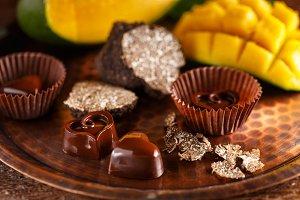 Gourmet chocolate praline