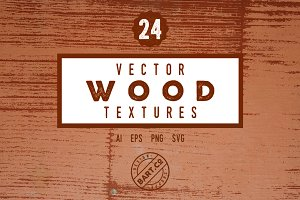 24 Vector Wood Textures