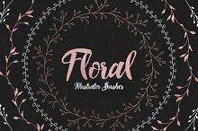 Floral Illustrator Pattern Brushes