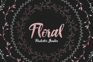 Floral Illustrator Pattern Brushes