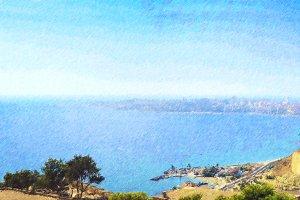 City Alicante from castle Santa Barbara